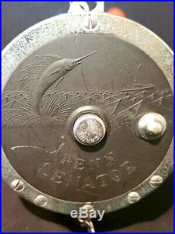 Vtg PENN Senator 115 9/0 BIG GAME Conventional Saltwater Fishing Reel rod holder