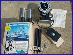 Walker Combo-Pak Chrome Electric Downrigger C-EDRC-234 Dual Rod Holder 4' Arm ++