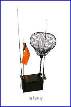 YakAttack BlackPak Kayak Fishing Crate with 3 rod holders Black, Ships FREE
