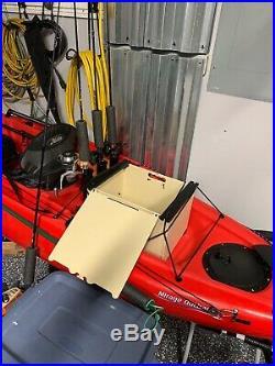Yakattack Blackpak Kayak Fishing Storage Crate with Rod Holders
